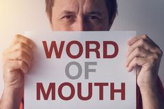 Word of mouth stock image