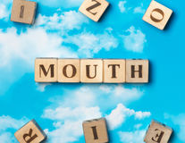 The word Mouth Stock Image