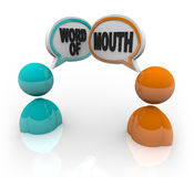 Word of Mouth - Two People Speaking Stock Images
