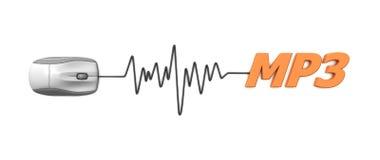 Word MP3 met Grijze Muis vector illustratie