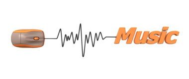 Word Music with Mouse � Orange Royalty Free Stock Photos