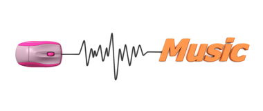 Word Music with Mouse Orange Royalty Free Stock Photography