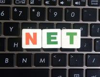 Word Netto op toetsenbordachtergrond royalty-vrije stock foto's