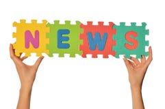 Word News Stock Photography