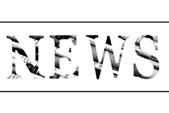 Word News  cut from newspaper Royalty Free Stock Photos