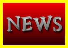 Word of News in 3D. The word News in 3D, vector art illustration Stock Photos