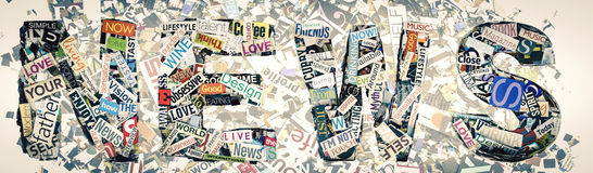 The word NEWS Stock Image