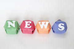 Word news Stock Photos