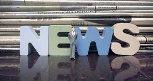 The word news stock image