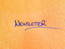 Word newsletter Royalty Free Stock Photography