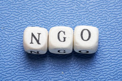 Word NGO Royalty Free Stock Photo