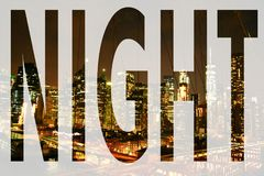 The word night stock photo