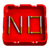 Word No in ashtray Royalty Free Stock Image