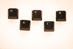 Word `NO` meaning `HAYIR` in Turkish written with keyboard key Stock Images