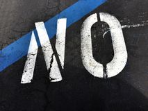 The Word No Painted On The Street Stock Images