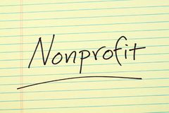 Nonprofit On A Yellow Legal Pad Stock Image