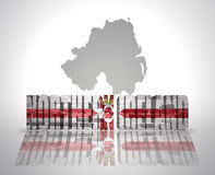 Word Northern Ireland on a map background royalty free illustration