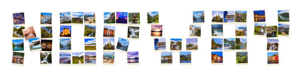 Word Norway made of travel shots (my photos) Royalty Free Stock Photo