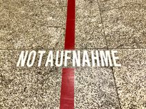 Word: Notaufnahme, Duits woord voor noodsituatieruimte royalty-vrije stock fotografie