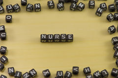 Word nurse Royalty Free Stock Image
