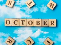 The word October Royalty Free Stock Photos