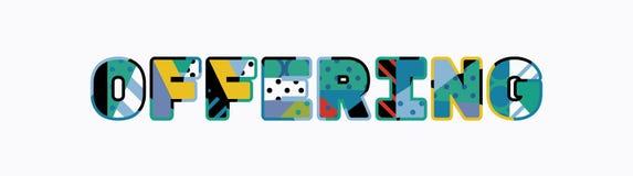 Offering Concept Word Art Illustration