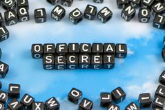 The word official secret. On the sky background Royalty Free Stock Images