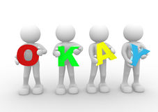 Word'OKAY' Stock Images