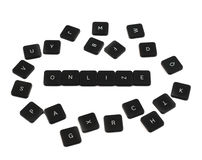 Word online made of keyboard buttons isolated Royalty Free Stock Image