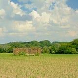 Word Oorlog één bunker op een gebied in het Vlaamse platteland stock afbeelding