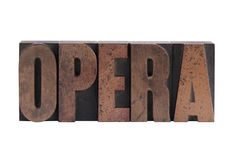 The word 'opera' royalty free stock photo