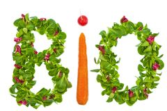 The word organic salad and vegetables from Stock Photography