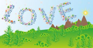Word ove from elements Royalty Free Stock Photo