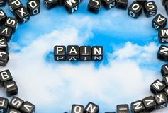 The word Pain Royalty Free Stock Photos