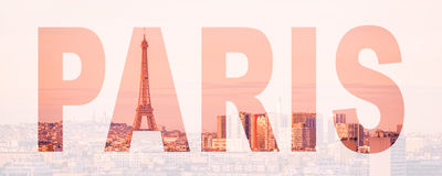 Word Paris, France and Europe city travel concept. Word Paris, France and Europe city, travel concept Stock Photo