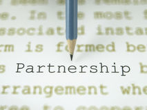 The word partnership Stock Image
