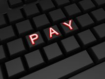 Word PAY on keyboard. Stock Photo