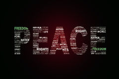 The word peace. In beutiful lettering art Royalty Free Stock Photo