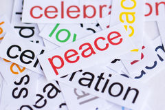 Word peace Stock Photo