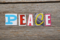 The word Peace Royalty Free Stock Images