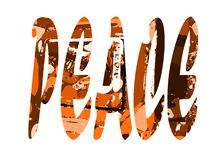 The word peace isolated Stock Photography