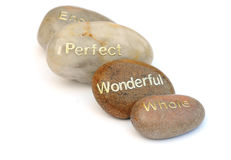 Word pebbles Royalty Free Stock Image