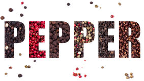 The word pepper Royalty Free Stock Photos
