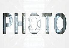 Word photo stock photography