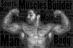 Word picture body builder Stock Photo