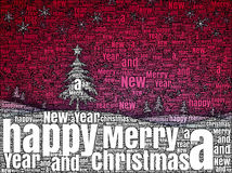 Word picture Merry Christmas Stock Image