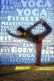 Word picture yoga sports Royalty Free Stock Photos