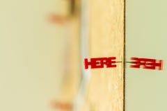 Word pin on board Stock Image