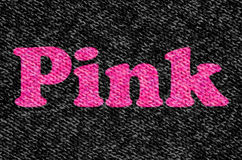 The Word Pink On Wool Stock Photos