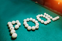 The word pool from billiard balls Royalty Free Stock Photography